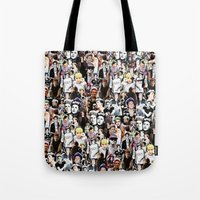 niall horan Tote Bags featuring Punk Niall Horan College by Becca / But-Like-How