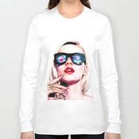 iggy azalea Long Sleeve T-shirts featuring Iggy Azalea Portrait by Tiffany Taimoorazy