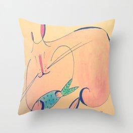 Fish & Cats Throw Pillow