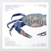 Manhole Crab with Lace Art Print