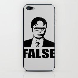 False funny saying iPhone Skin