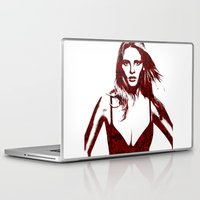 calvin Laptop & iPad Skins featuring Lara Stone Calvin Klein Fashion by fashionistheonlycure