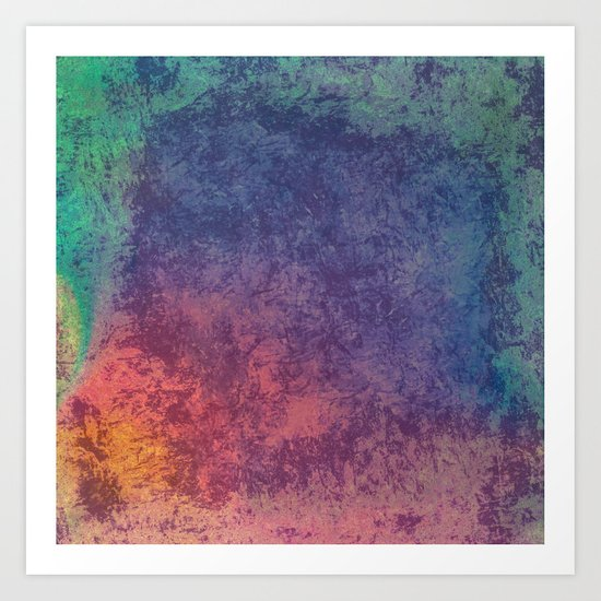 Colors of opal abstract texture Art Print