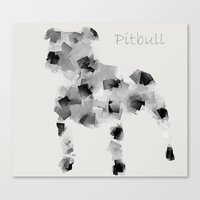pit bull Canvas Prints featuring the pit bull dog  by bri.buckley