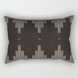 Southwestern Minimalist Black & White Rectangular Pillow