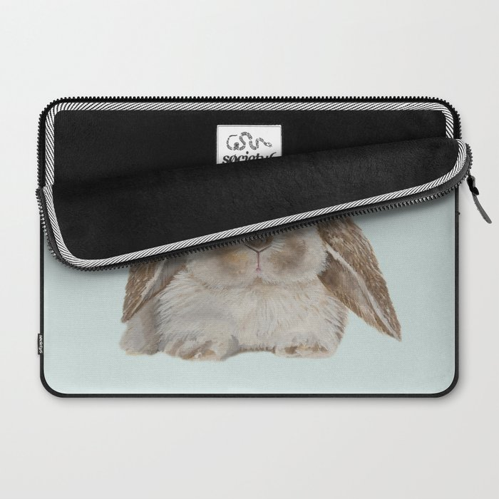 Spring Bunny with Floral Crown Laptop Sleeve