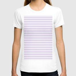 Modern lavender white trendy striped geometrical T-shirt