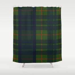 Blue Green and Red Plaid, Tartan Plaid Shower Curtain