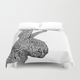 Hare Zentangle Duvet Cover