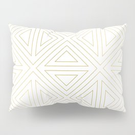 Angled White Gold Pillow Sham