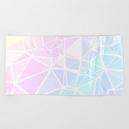 Pastel Triangles 1 Beach Towel