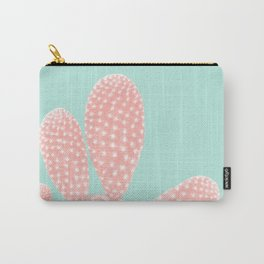 Apricot Blush Cactus on Mint Summer Dream #1 #plant #decor #art #society6 Carry-All Pouch