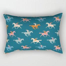 Naked derby dark blue Rectangular Pillow
