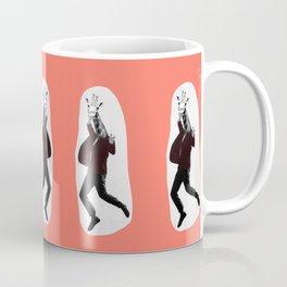 Giraffe in a Suit by Debbie Porter Coffee Mug