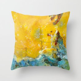 The Eagle Cave Throw Pillow