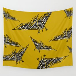 Pterosauria mustard Wall Tapestry