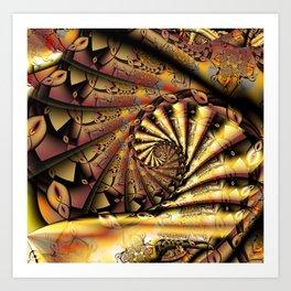 Gold Brocade  Art Print