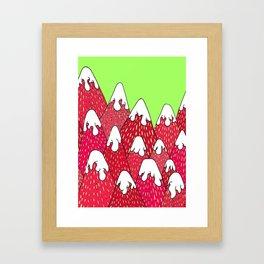 Strawberry Mountains Framed Art Print