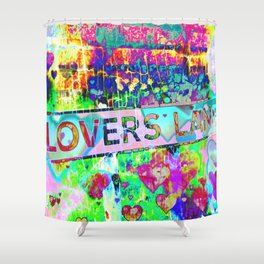 Psychedelic Lovers Lane  Shower Curtain