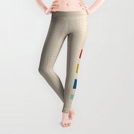 four elements || tweed & primary colors Leggings
