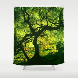 Green is the Tree Shower Curtain