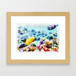 Mundo Submerso Framed Art Print