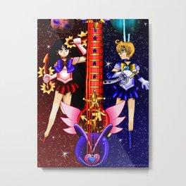 Fusion Sailor Moon Guitar #29 - Sailor Mars & Sailor Uranus Metal Print