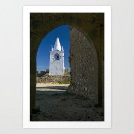 Arraiolos white tower, Portugal Art Print