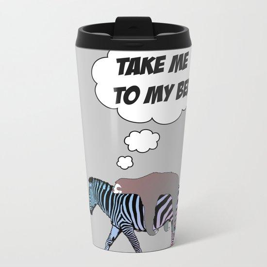 lazy sloth Metal Travel Mug