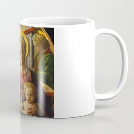 """Fra Filippo Lippi """"Madonna and Child Enthroned with Two Angels"""" Coffee Mug"""