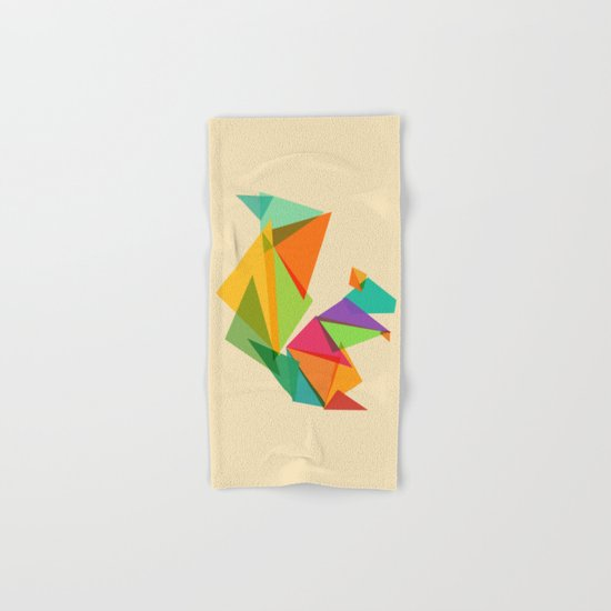 Fractal geometric Squirrel Hand & Bath Towel