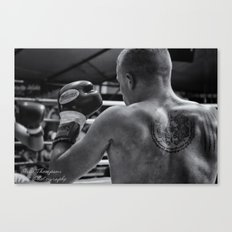 Black and white Boxing Canvas Print