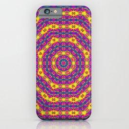 Psychedelic Splodge Mandala Pattern iPhone Case