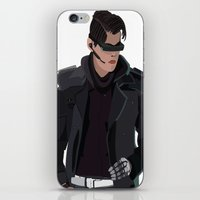 cyberpunk iPhone & iPod Skins featuring Cyberpunk Male Character by Jude Beavis