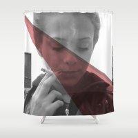smoking Shower Curtains featuring Smoking kill by Lucas de Souza