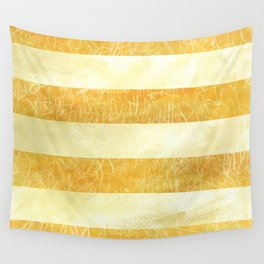Yellow Stripes Wall Tapestry