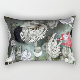 The Garden of Forgotten Happiness diorama Rectangular Pillow