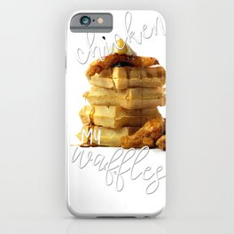 You're the Chicken to My Waffles Valentines Day Love Couple Gift iPhone Case