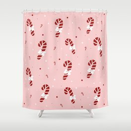 Candy Cane Mix Shower Curtain