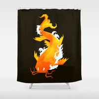 yetiland Shower Curtains featuring Carp II by Yetiland