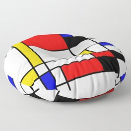 Bauhouse Composition Mondrian Style Floor Pillow
