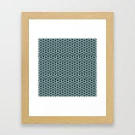 Deep Sea Green Blue Seigaiha Framed Art Print