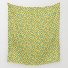 Yellow Butterflies Wall Tapestry