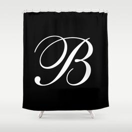 Elegant And Stylish Black And White Monogram B Shower Curtain