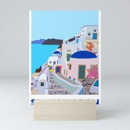 Sea you soon [Santorini, Greece] #2 Mini Art Print