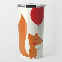 Fox With A Red Balloon Travel Mug