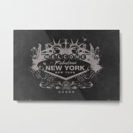 Sin City (Black) Metal Print