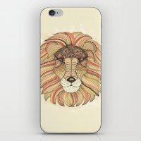 leo iPhone & iPod Skins featuring Leo by Vibeke Koehler