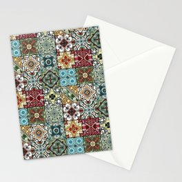 Colorful Spanish Tiles Stationery Cards