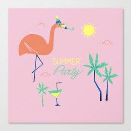 Pink-Flamingo Canvas Print